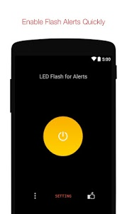 screenshot of Flash Alerts on Call and SMS version 2.2