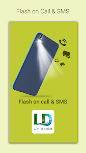 screenshot of Flash on Call and SMS version 6.1.6