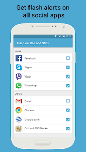 screenshot of Flash Alerts on Call and SMS version 5.0.3