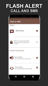 screenshot of Flash on Call and SMS version 6.1.9