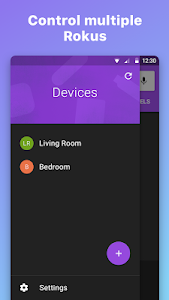 screenshot of Roku Remote Control: RoByte version 2.1.1