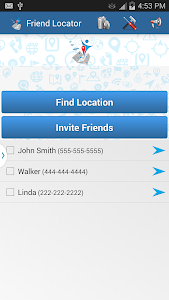 screenshot of Friend Locator version 1.56