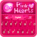 GO Keyboard Pink Hearts Theme