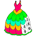 Girls Dress Color by Number: Fashion Coloring Book