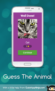 screenshot of Guess The Animal version 4.5.0z