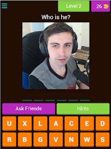 screenshot of Guess the Twitch Streamer version 3.1.9z
