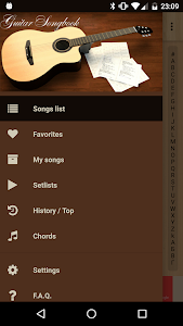 screenshot of Guitar Songs version 7.3.2 vint