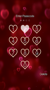 screenshot of Heart Pin Lock Screen version 2.7