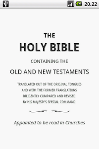 screenshot of Holy Bible (KJV) version 1.5