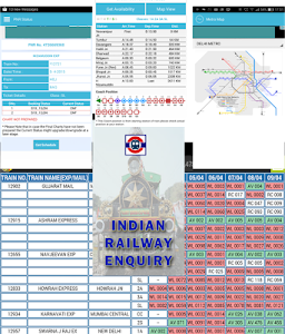 screenshot of Indian Railway Enquiry version 5.15