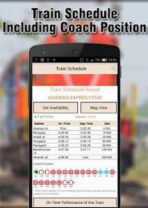 screenshot of Indian Railways Enquiry version 14.6