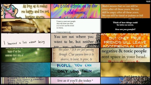 screenshot of Inspirational Quotes Free version 8.6