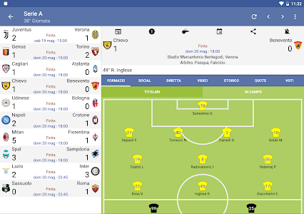 screenshot of Italian Soccer 2018/2019 version Varies with device