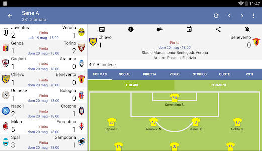 screenshot of Italian Soccer 2019/2020 version Varies with device