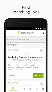 screenshot of Job Search by ZipRecruiter version Varies with device