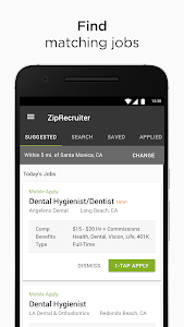 screenshot of Job Search by ZipRecruiter version 3.4.0