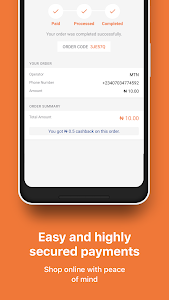 screenshot of Jumia One: Airtime and TV/Electricity bill payment version 3.0.7