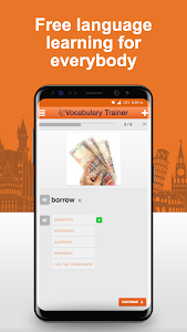 screenshot of Learn German Vocabulary Free version 3.1.0