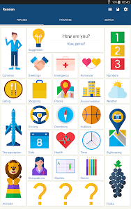 screenshot of Learn Russian Phrases | Russian Translator version Varies with device