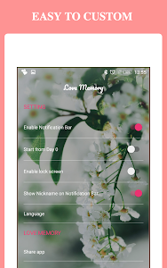 screenshot of Love Days Counter -Been Love Memory &Been Together version 1.0