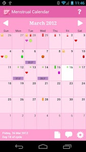 screenshot of Menstrual Calendar version 0x7f050011
