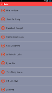 screenshot of Mile Ho Tum Hamko songs lyrics version 5.0