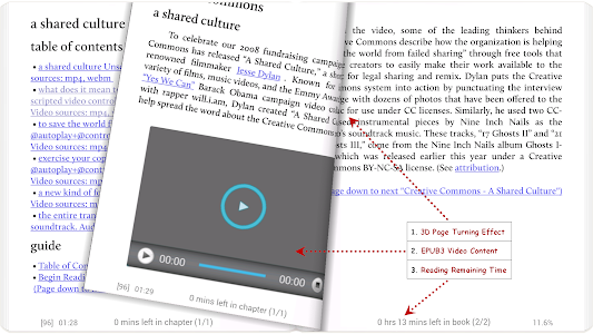 screenshot of Moon+ Reader version Varies with device