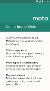 screenshot of Motorola Notifications version 7.6.015
