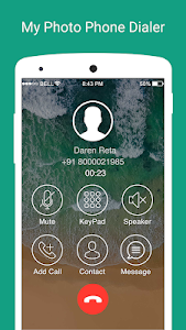 screenshot of My Photo Phone Dialer version 3.2