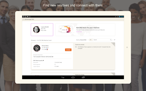 screenshot of MyHeritage - Family tree, DNA & ancestry search version Varies with device