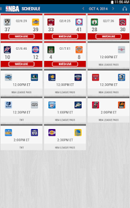 screenshot of NBA Game Time 2014-15 version 5.06