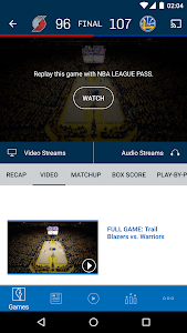 screenshot of NBA version 2016.3.1