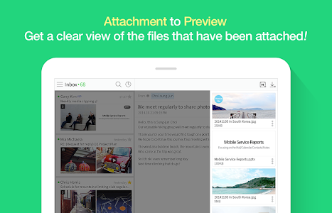 screenshot of NAVER Mail version Varies with device