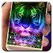 Neon Tiger Keyboard Theme