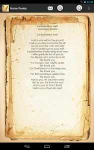 screenshot of Norse Poetry version 2