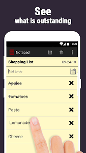 screenshot of Notepad - Write Notes, Checklists & Reminders version 2.0.620