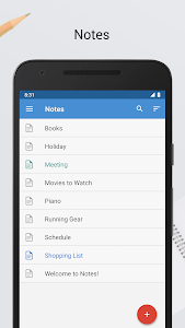 screenshot of Notes version Varies with device