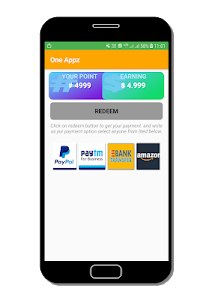 screenshot of One Appz - Rewarded App. version 1.6