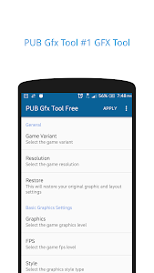 screenshot of PUB Gfx Tool Free🔧 (NO BAN & NO LAG) version 0.17.0