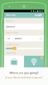 screenshot of PackPoint travel packing list version 3.10.17