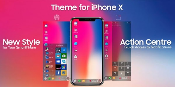 screenshot of Phone X Theme For Computer Launcher version 2.3