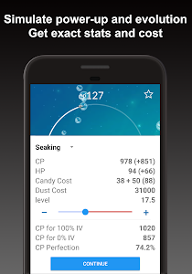 screenshot of Poke Genie - Safe IV Calculator version 4.1.8