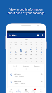 screenshot of Pulse for Booking.com Partners version 10.9