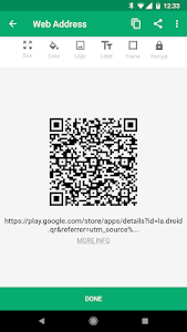 screenshot of QR Droid version Varies with device