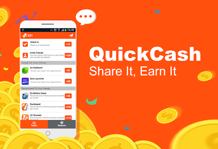 screenshot of QuickCash version 1.9