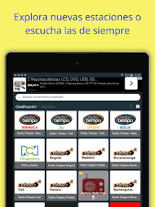 screenshot of Radio Colombia: Internet Radio App + FM Radio version 2.3.11