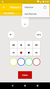 screenshot of Remote Control for Polaroid TV version 1.5