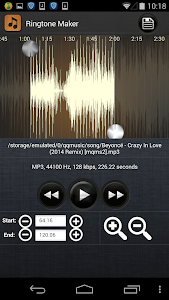 screenshot of Ringtone Maker - MP3 Cutter version 1.1.28