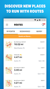 screenshot of Run with Map My Run version 20.10.0