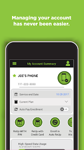 screenshot of Simple Mobile My Account version R10.6.0